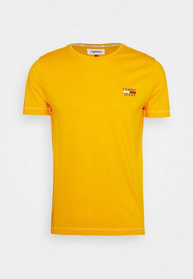 CHEST LOGO TEE - T-shirt imprimé - orange