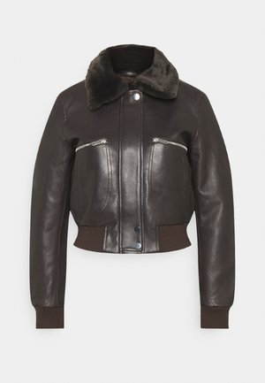 BIRMAN - Leather jacket - marron