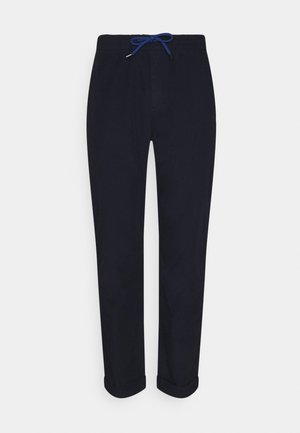 MENS DRAWSTRING TROUSER TURN UP - Trousers - navy