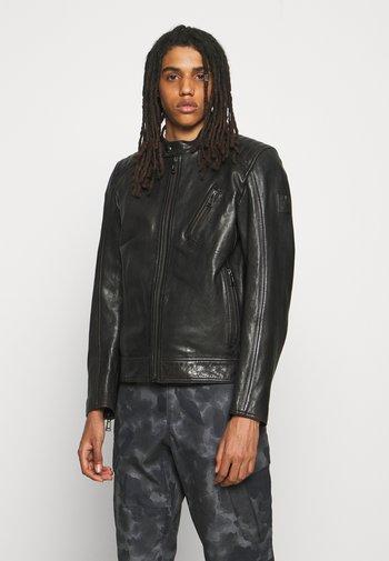 RACER JACKET - Leather jacket - black