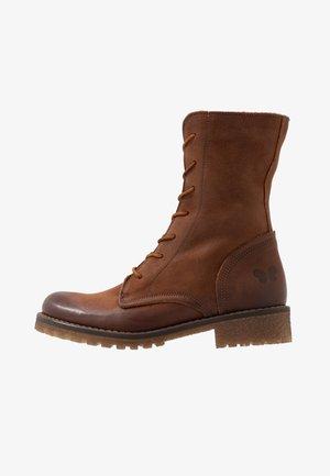 CASTER - Šněrovací kotníkové boty - morat