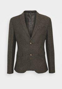 HERRINGBONE  - Blazer jacket - brown