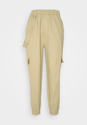 RING STRAP PANT - Cargo trousers - beige