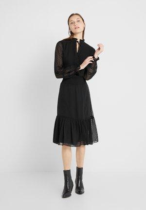 SWISS DOT DRESS - Day dress - polo black