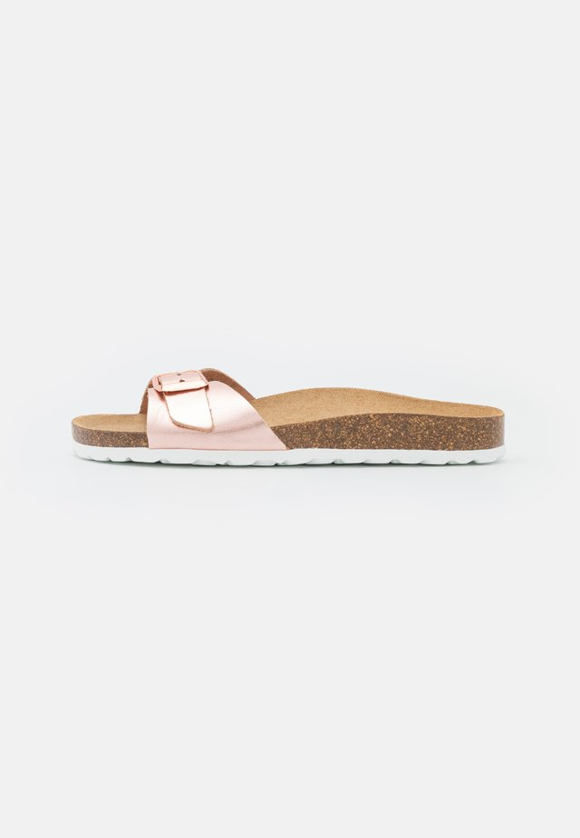 ONLMADISON LEATHER SLIP  - Pantoffels - rose gold