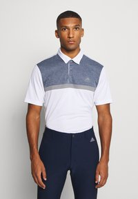adidas Golf - PERFORMANCE SPORTS GOLF SHORT SLEEVE  - Polotričko - white/collegiate navy melange - 0