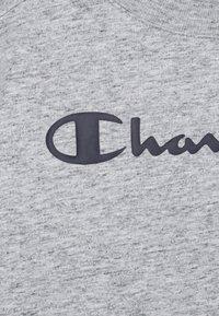 Champion - LEGACY AMERICAN CLASSICS CREWNECK CROPTOP - Print T-shirt - mottled grey - 2