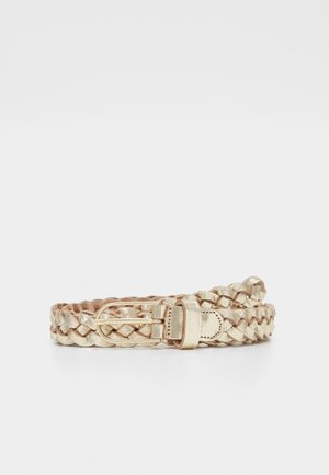 Braided belt - gold metallic