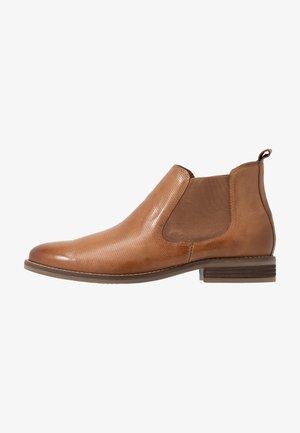 LEATHER BOOTIES - Boots à talons - cognac