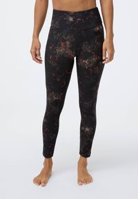 OYSHO - COMPRESSION  WITH WINTER FLORAL PRINT  - Leggings - black - 0