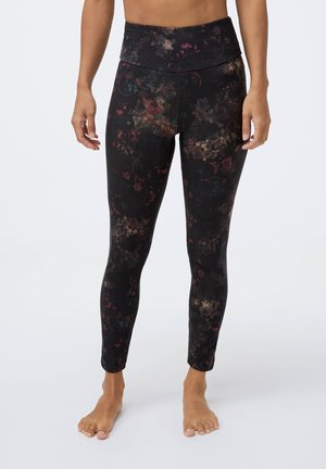 COMPRESSION  WITH WINTER FLORAL PRINT  - Leggings - black