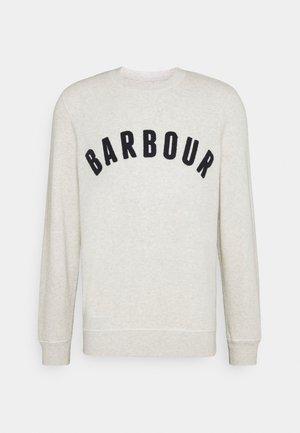 BARBOUR PREP LOGO CREW - Sweatshirt - ecru marl