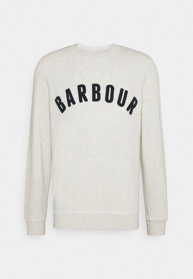 BARBOUR PREP LOGO CREW - Sweater - ecru marl