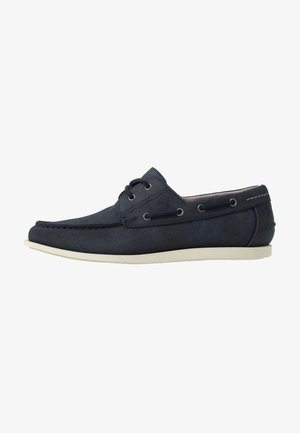 FLETCH BOAT SHOE - Náuticos - navy