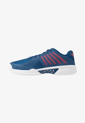EXPRESS LIGHT 2 CARPET - Carpet court tennis shoes - dark blue/white/bittersweet