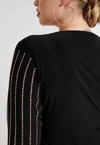 Simply Be - BODYCON STRIPE HOTFIX DRESS - Etuikjoler - rose gold - 6