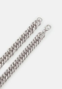 Topman - WIDE FLAT CHAIN NECKLACE - Halsband - silver-coloured - 1