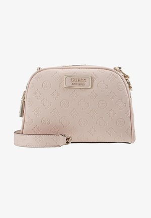 LOGO LOVE CROSSBODY TOP ZIP - Skuldertasker - pink