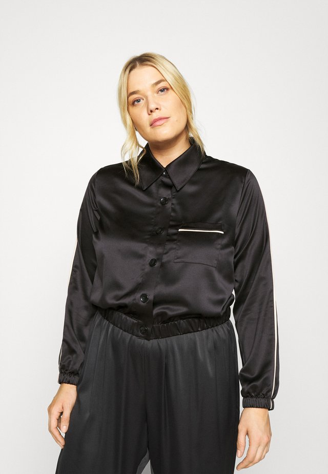 FASHION CROPPED TOP - Pyjamasöverdel - black