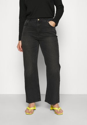 VMKITHY LOOSE  - Relaxed fit jeans - black denim