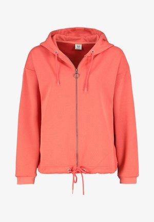 Zip-up sweatshirt - light-red