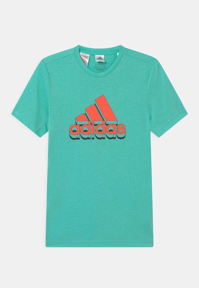 UNISEX - T-shirt imprimé - turquoise/orange