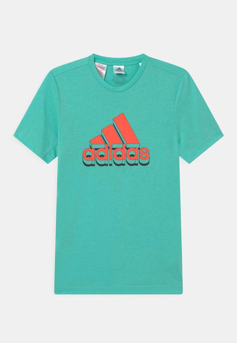 adidas Performance - UNISEX - Camiseta estampada - turquoise/orange