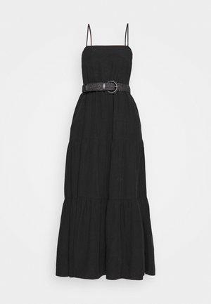TEIRED DRESS - Maxi dress - black