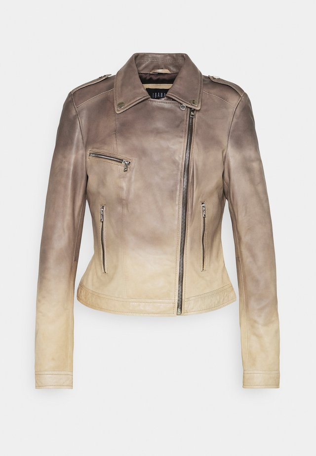BAKA - Veste en cuir - dark chocolate