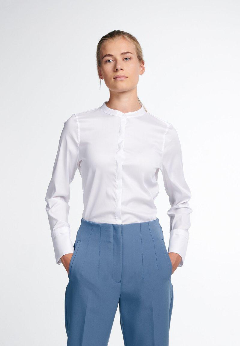 Eterna - LANGARM MODERN CLASSIC - Button-down blouse - weiß