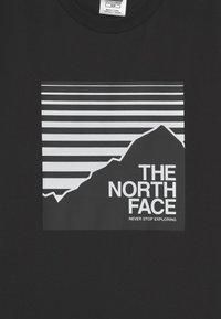 The North Face - BOX TEE UNISEX - Print T-shirt - black - 2