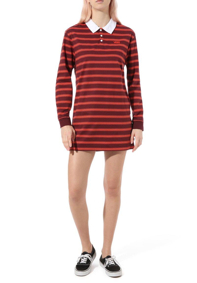 Vans - WM STRIPE POLO DRESS - Jersey dress - port royale