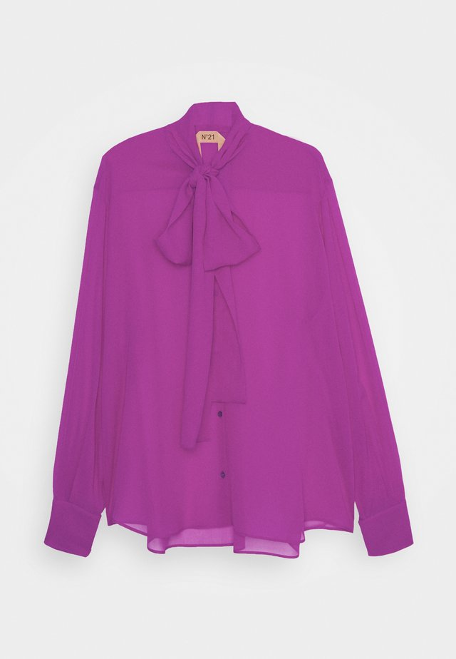 Button-down blouse - fuxia