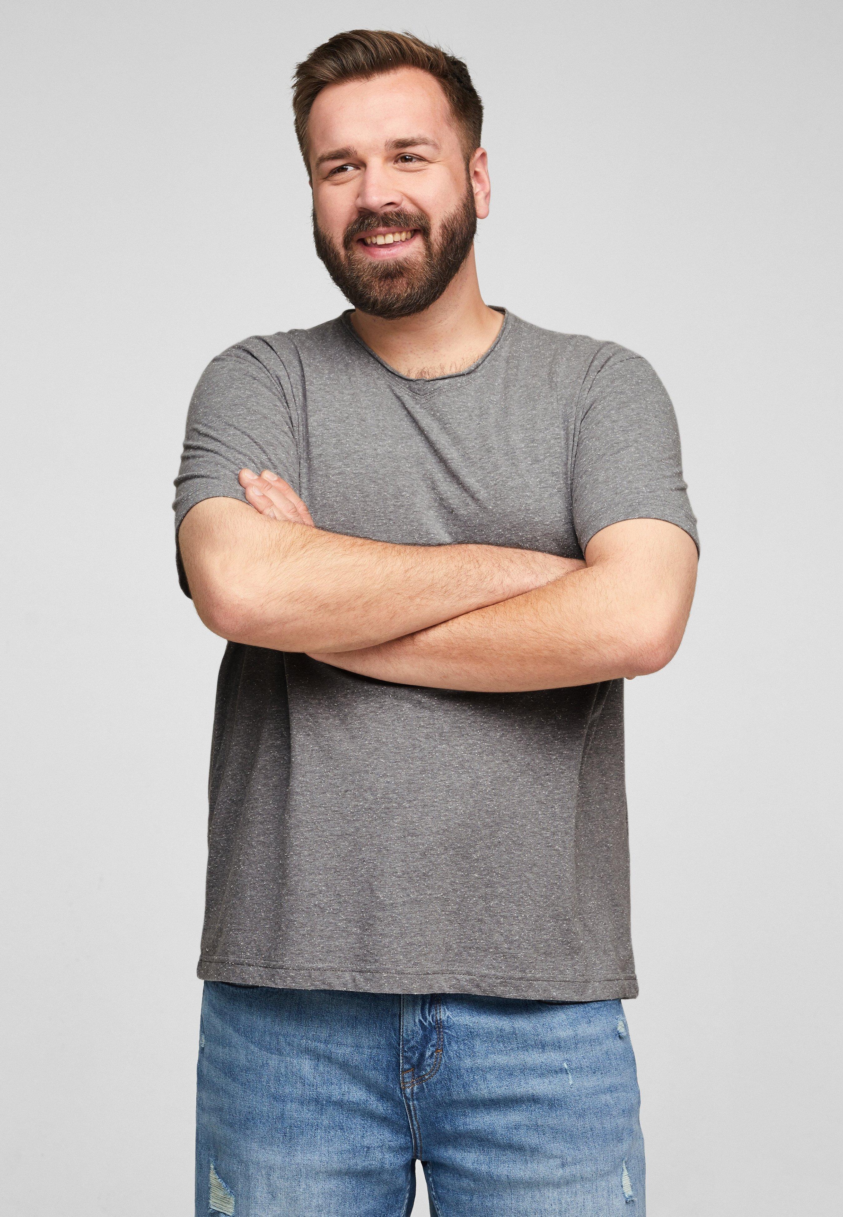 Homme CHINÉ À ENCOLURE EN V - T-shirt basique