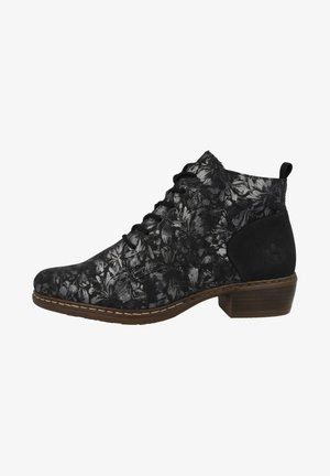 Lace-up ankle boots - black metallic black