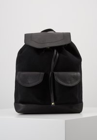 Anna Field - LEATHER/COTTON - Tagesrucksack - black - 0