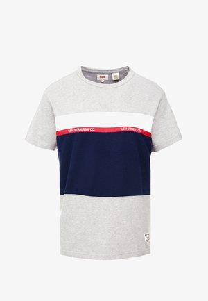 MIGHTY PIECED TEE - T-shirt con stampa - medium grey heather