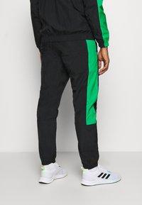 adidas Performance - ZIP - Tuta - black/black/vivgreen - 4
