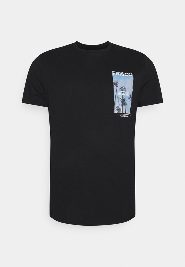 LONGLINE TEE - T-shirts med print - black