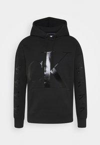Calvin Klein Jeans - ECO FASHION - Felpa con cappuccio - black - 0