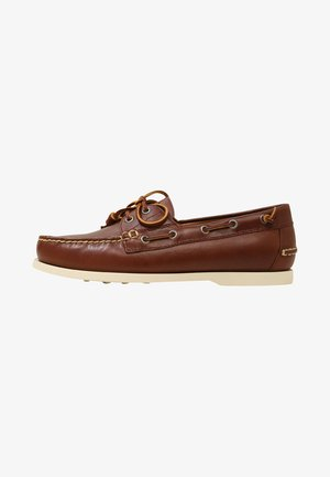 MERTON - Boat shoes - deep saddle tan