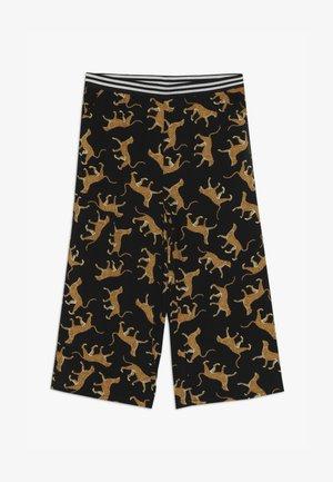 KONFREJA CROPPED PALAZZO - Trousers - black