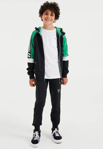 Zip-up sweatshirt - blended dark grey