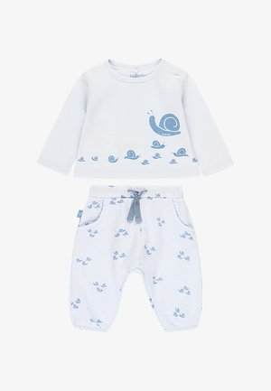 2 PIECE SET SCHNECKE&QUOT - Tracksuit bottoms - sky blue