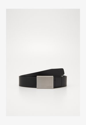 FORMAL PLAQUE BELT - Pásek - black