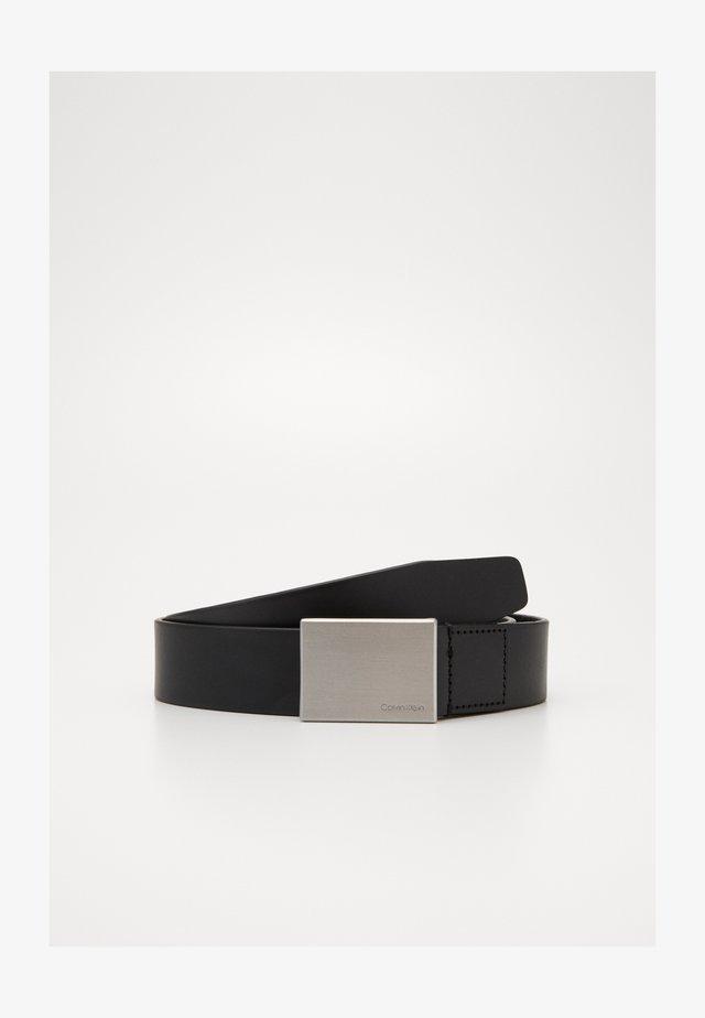 FORMAL PLAQUE BELT - Ceinture - black
