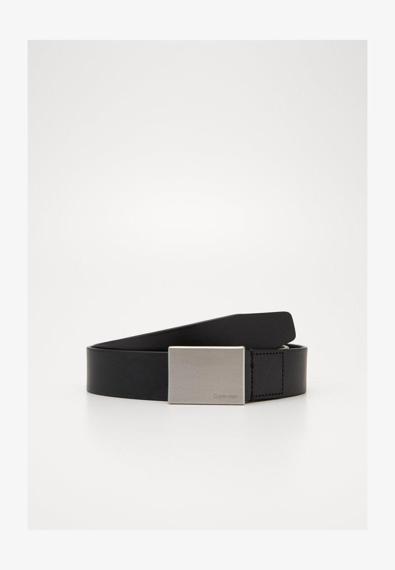 Calvin Klein - FORMAL PLAQUE BELT - Belt - black
