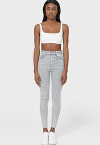 Stradivarius - Jeans Skinny Fit - light grey - 1