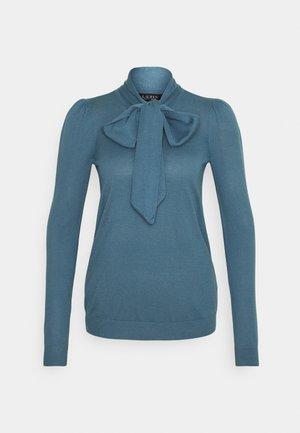 TIE NECK - Jumper - provincial blue