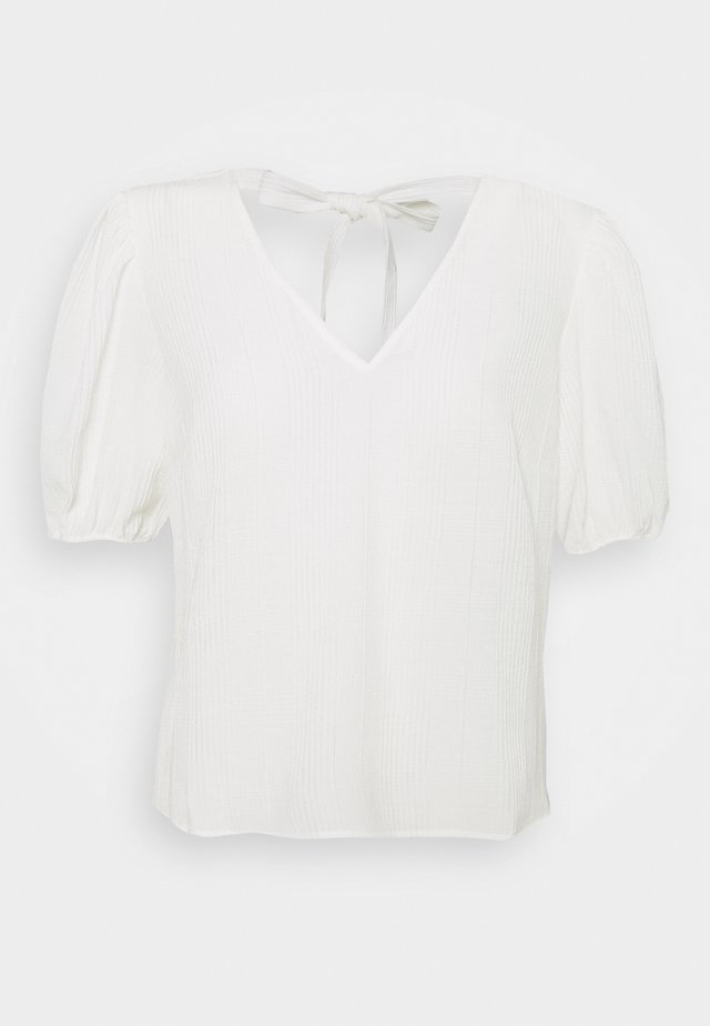 OBJYASMINA - Print T-shirt - cloud dancer